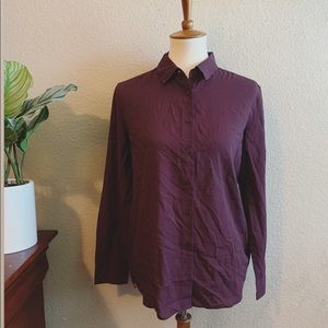 Uniqlo Button Down Blouse Size Small NWOT